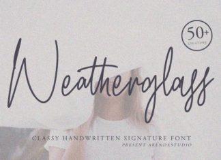 Weatherglass Handwritten Font