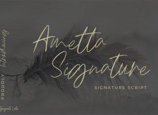 Ametta Signature Script Font