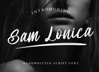 Sam Lonica Brush Font