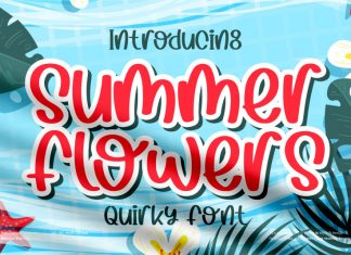 Summer Flowers Display Font