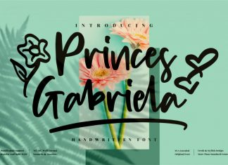 Princes Gabriela Script Font