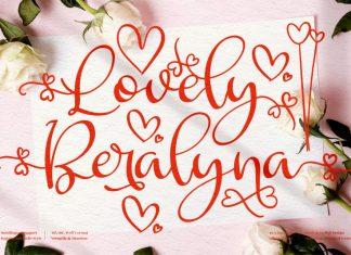 Lovely Beralyna Script Font