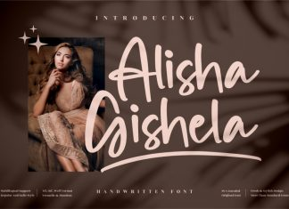 Alisha Gishela Handwritten Font