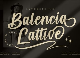 Balencia Lattive Script Font