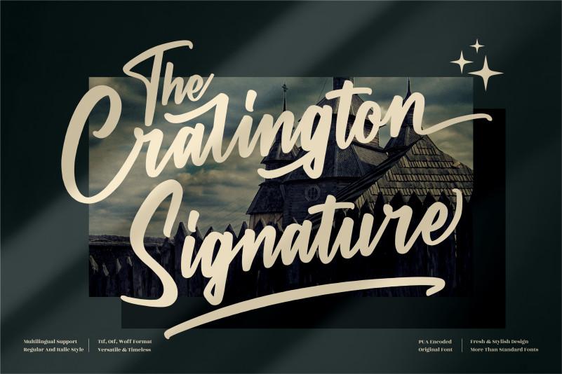 The Cralington Signature Script Font