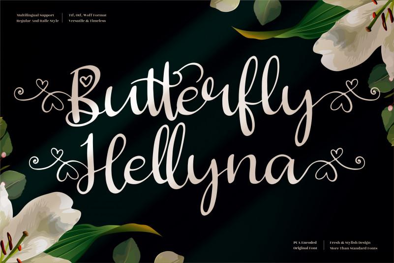 Butterfly Hellyna Script Font