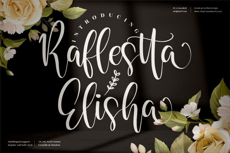 Raflestta Elisha Calligraphy Font