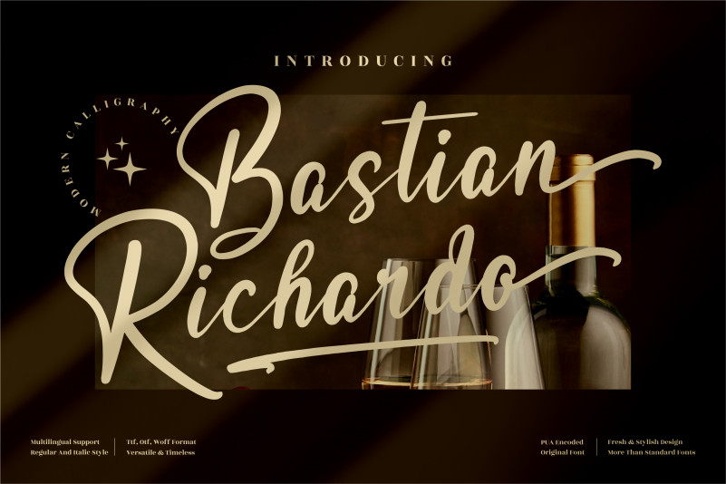 Bastian Richardo Script Font