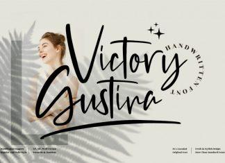 Victory Gustina Script Font