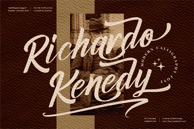 Richardo Kenedy Script Font
