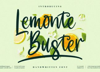 Lemonte Buster Handwritten Font