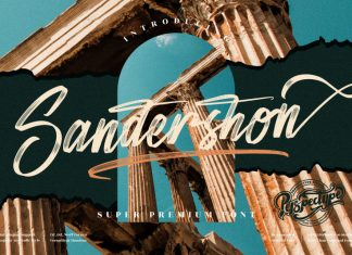 Sandershon Brush Font
