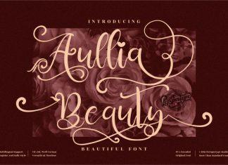 Aullia Beauty Script Font