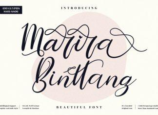 Marira Binttang Script Font