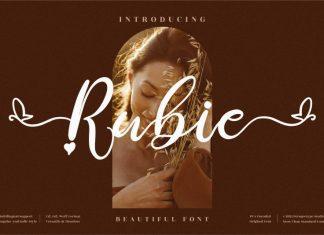 Rubie Script Font