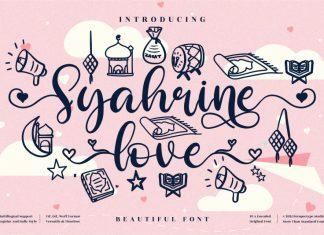 Syahrine love Script Font