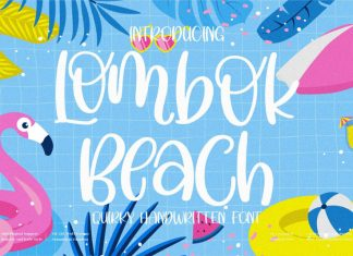Lombok Beach Display Font