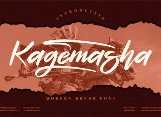 Kagemasha ,Brush Font