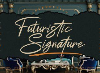 Futuristic Signature Script Font