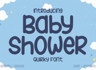 Baby Shower Display Font