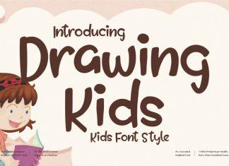 Drawing Kids Display Font