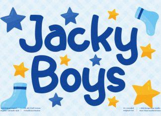 Jacky Boys Display Font