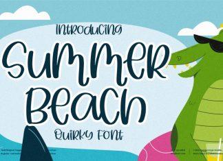 Summer Beach Display Font