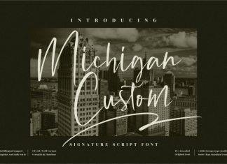 Michigan Custom Script Font