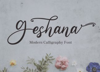 Geshana Calligraphy Font