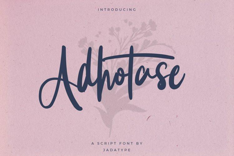 Adhotase Script Font