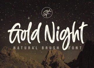Gold Night Brush Font