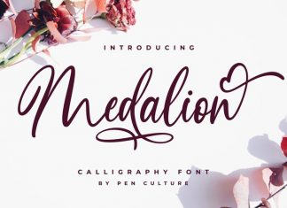Medalion Calligraphy Font