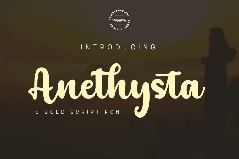 Anethysta Script Font