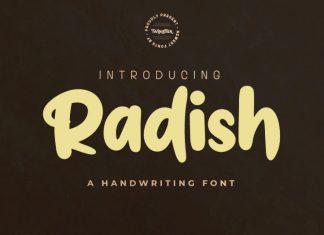 Radish Display Font