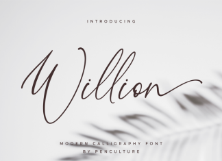 Willion Calligraphy Font