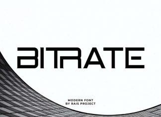 Bitrate Display Font