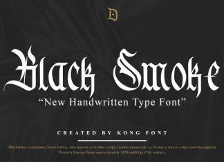 Black Smoke Blackletter Font