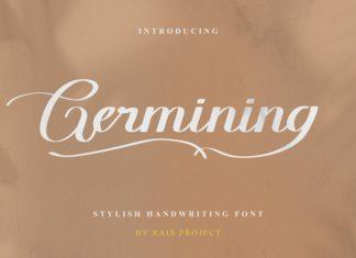 Germining Script Font
