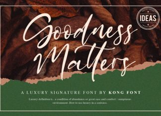 Goodness Matters Script Font