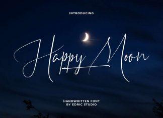 Happy Moon Calligraphy Font