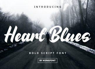 Heart Blues Brush Font