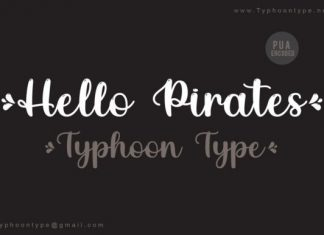 Hello Pirates Script Font