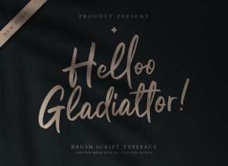 Helloo Gladiattor Script Font