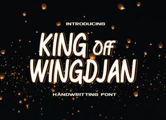 KING Off WINGDJAN Display Font
