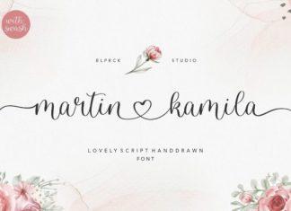 Martin Kamila Calligraphy Font