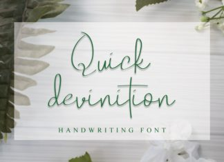 Quick Devinition Handwritten Font