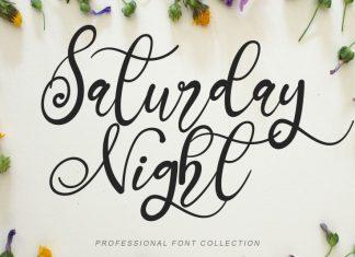 Saturday Night Script Font