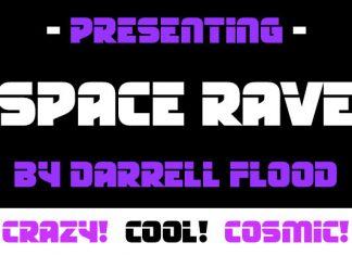 Space Rave Display Font