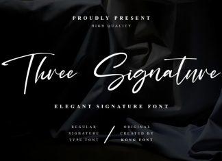 Three Signature Script Font