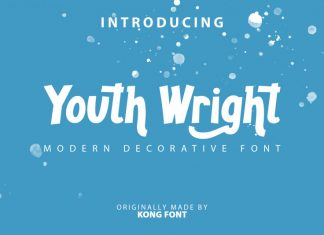 Youth Wright Display Font